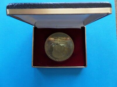 1982 National Hockey League HALL-OF-FAME dinner Medallion COIN in NHL box RARE!