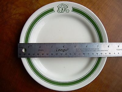 Canadian Pacific Railroad CPR Green Band Dining car/hotelware 7 7/8 inch Plate