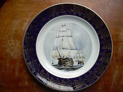 H.M.S. VICTORY  Weatherby + Sons Falcon Pottery 9 3/4 inch plate in nice shape.
