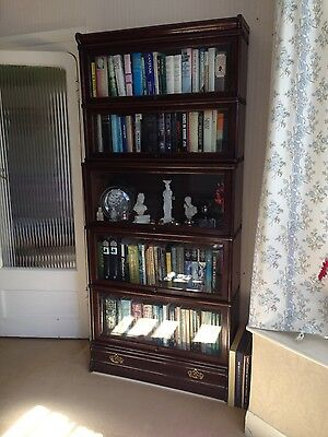 Globe Wernicke 5 Stack Bookcase Barristers Sectional Leaded Glass