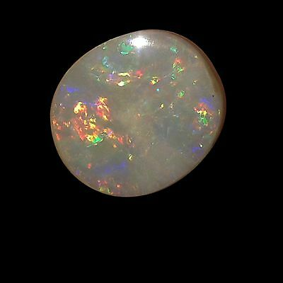 Pretty 8cts 16x14x4mm Natural Australian Doublet Multi Fire Coober Pedy Opal Cab