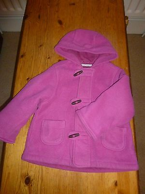 M&S Pink girls duffle coat age 12-18 months 1-2 years