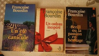 Lot De 3 Romans De Françoise Bourdin