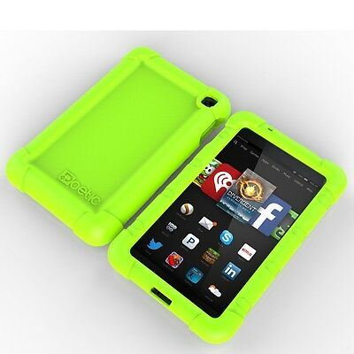 Poetic Turtle【Rugged Impact】Silicone Case For Amazon Kindle Fire HD 6 2014 GRN