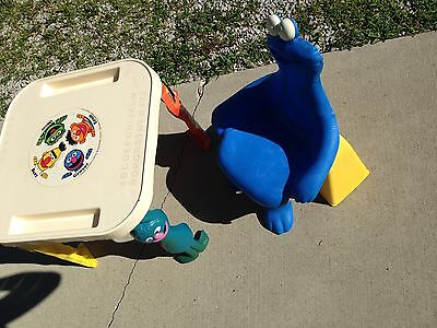 Very Rare 1979 Sesame Street Knickerbocker Activity Table and Chair- Cookie Mon.