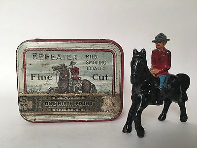 Repeater Tobacco - Pocket Tobacco Tin - Canadian Mounted Police - Mountie