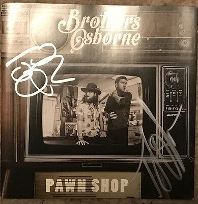 SIGNED Brothers Osbourne Pawn Shop CD ALBUM BRAND NEW
