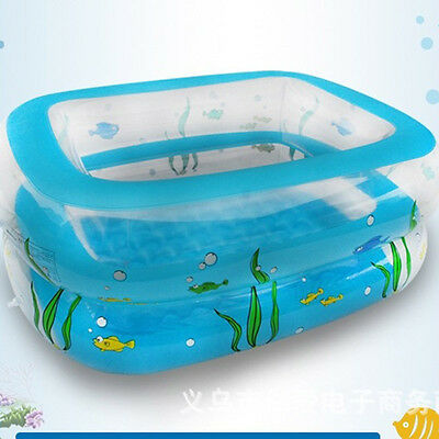 Above Ground Inflatable Round Swimming Pool Rectangle Easy Set 2 Ring