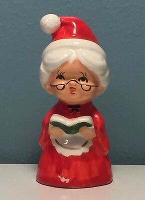 Lefton Mrs Claus Salt/Pepper Shaker VINTAGE Christmas Singing Carols Japan MCM