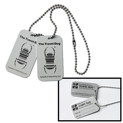 orig. Groundspeak TB Travel Bug Travelbug® Dog Tag Geocaching ***