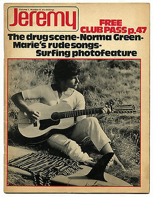 JEREMY Vol 1 No 9 1970 Magazine Norma Green/Bee Gees Maurice Gibb Gay Interest