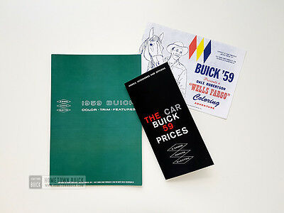 1959 Buick Literature Package: Showroom Album + Prices Flyer + Coloring Book