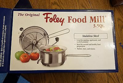 Foley food mill, 3.5 qt. Stainless Steel, New in Box!