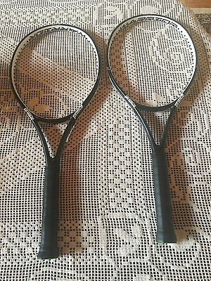 "2 Prince Textreme Warrior 100 4 1/2"" Tennis Racquets - Used 2016 Models"
