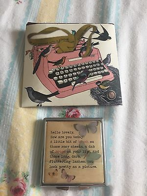 Disaster Designs New In Package Vintage Design Compact Mirror Butterflies & Bird