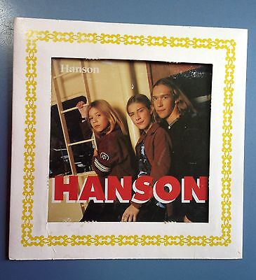 Vintage Carnival Prize Rock & Roll Group Hanson Photo w/Glass & Paper Frame