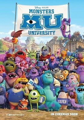 MONSTERS UNIVERSITY MOVIE POSTER 2 Sided ORIGINAL INTL Ver B 27x40 BILLY CRYSTAL