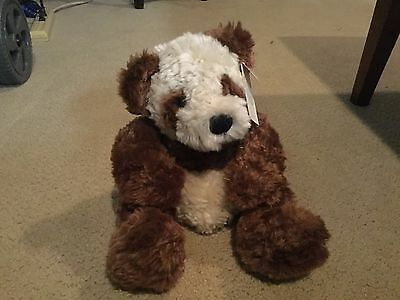 Russ Berrie Kimiko Teddy Bear Panda Plush Brown White 15 Inches Tall with Tag