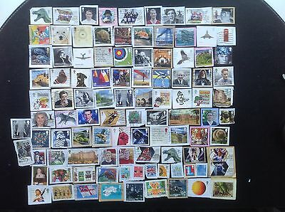 GB 100 Different Multi Issue 1st Class Commemorative Stamps - Kiloware  7
