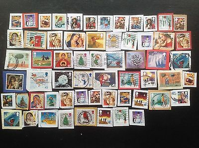 GB 60 Christmas Stamps 2001 - 2016 ALL High Values - Commemoratives - Kiloware 1