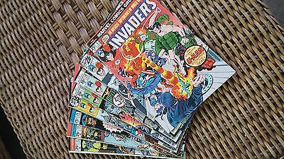 Invaders #4,7,19,31,33 plus other Marvel Comics lot