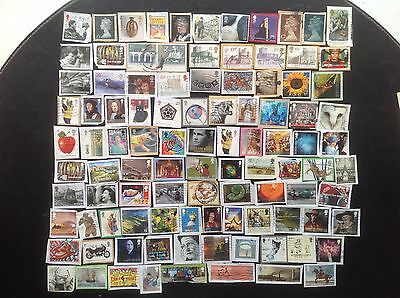 GB Stamps 100 Different Decimal Commemorative Great Britain Kiloware
