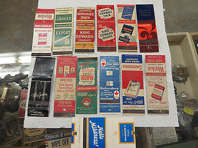 13 Different Cigarette Advertising Match Book Covers