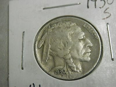 1930-S 5C Buffalo Nickel