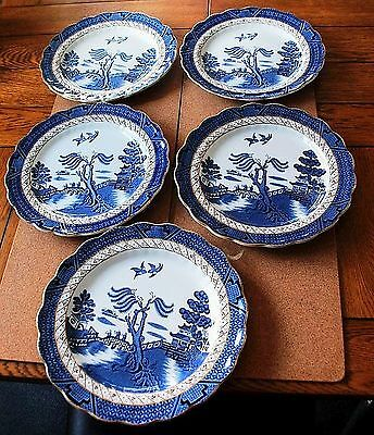 FIVE BOOTHS REAL OLD WILLOW 9.5inch PLATES A8025--FREE SHIPPING!