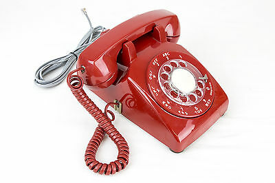 Meticulously Refurbished & Restored Western Electric Rotary Dial Phone - Red