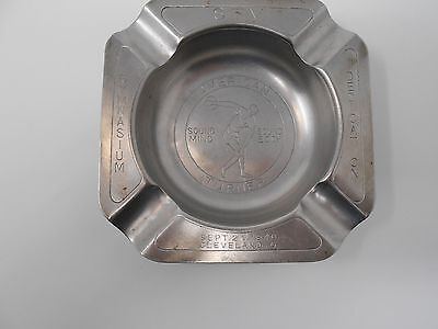 Antique ashtray dedicated on 9-21-1940 Cleveland OH, no maker marked 12A
