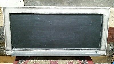 "NEW Large Rustic Framed Chalkboard with Chalk Shelf Wood Wall Hanging 27""x13"""
