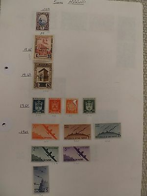 San Marino collection of 111 stamps - see all scans