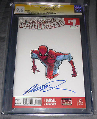 The Amazing Spider-Man 1 CGC 9.6 SS Humberto Ramos Signed Spider-Man Sketch