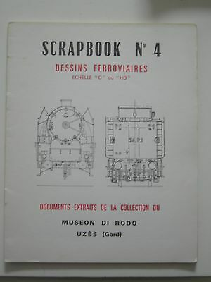 Scrapbook N°4 Dessins Ferroviaires O HO Collection MUSEON DI RODO Uzès