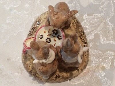 Beatrix Potter John Beswick Limited Edition Flopsy, Mopsy and Cotton Tail