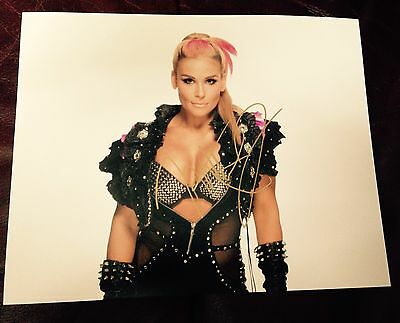 wwe natalya signed autographed 8x10 photo with proof queen of harts