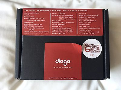 Diago Micro Power 9v 1A Regulated Power Supply with daisychain 6 way cable