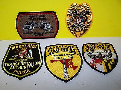 Maryland State Police Transportation Authority Commercial Veh Enf Patches