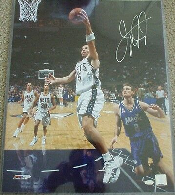 Jason Kidd signed auto autographed New Jersey Nets 16x20 photo with Steiner COA