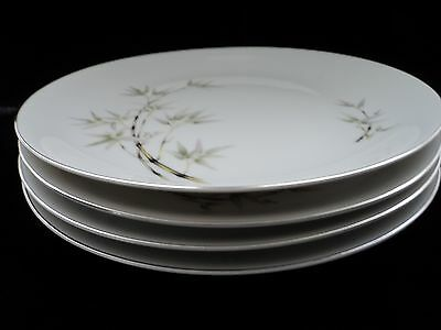 "Seyei ""bamboo Garden"" Four 10 1/4"" Dinner Plates Excellent Condition"