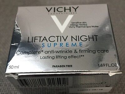 Vichy LiftActiv Night Supreme Complete Anti Wrinkle& Firming Care 1.69 Oz New!