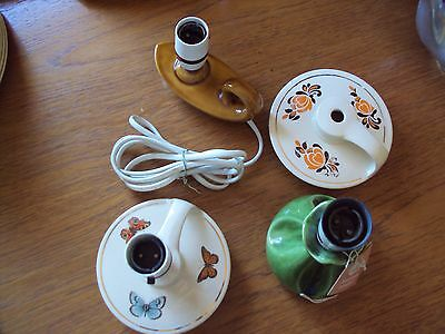 Job Lot of Vintage Holkham Pottery Table Lamps
