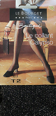 NEUF @@ COLLANT FANTAISIE  RESILLE LUREX NOIR OR + LE BOURGET Calypso + 2