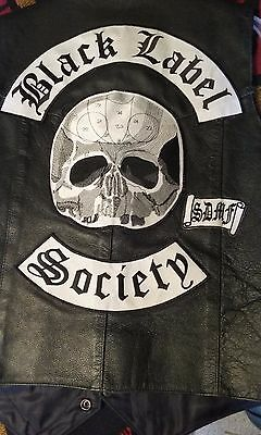 black label society patches and vest