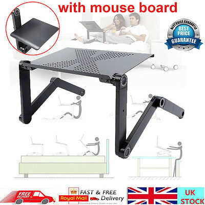 Adjustable Portable Laptop Table Stand Lap Bed Tray Notebook Desk Fast Delivery