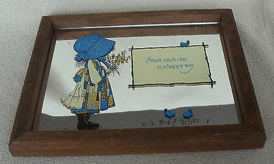 Vintage Holly Hobbie Wood Frame Mirror Start Each Day In A Happy Way