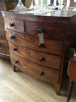 Drawers Victorian Flame Mahogany - 2 Over 3