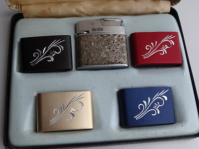 Vintage Lighter Maruman With Interchangeable Covers Boxed Set
