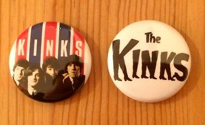 The Kinks - Set Of 2 Button Pin Badges